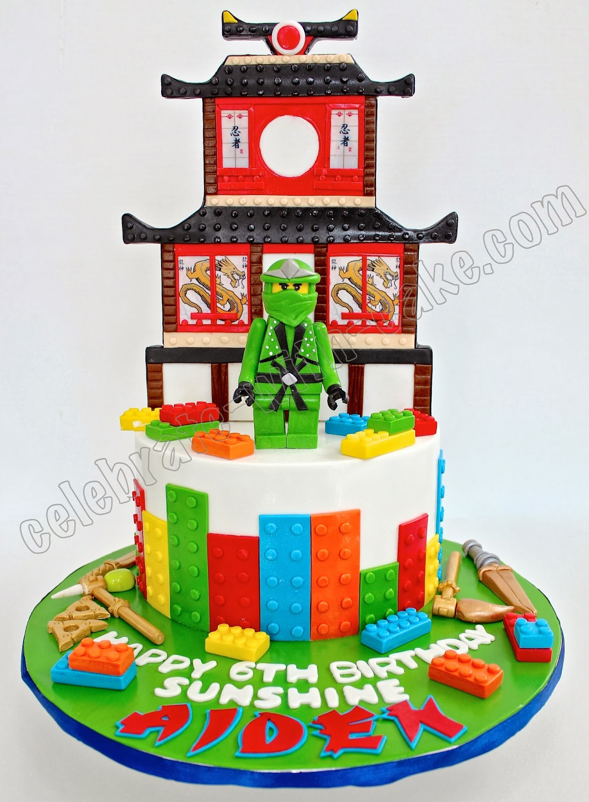 Celebrate with Cake Ninjago Fire Temple