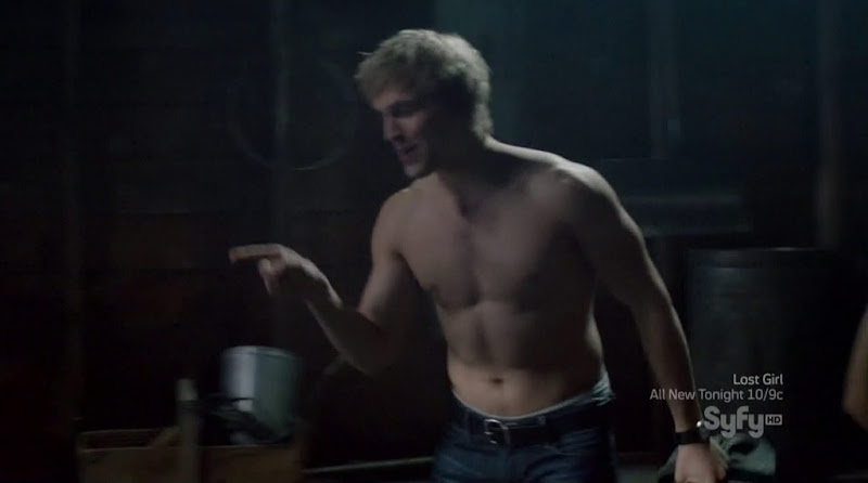 Jon Cor Shirtless in Being Human s2e07