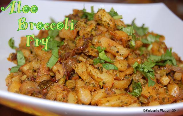 aloo broccoli fry   potato broccoli subzi