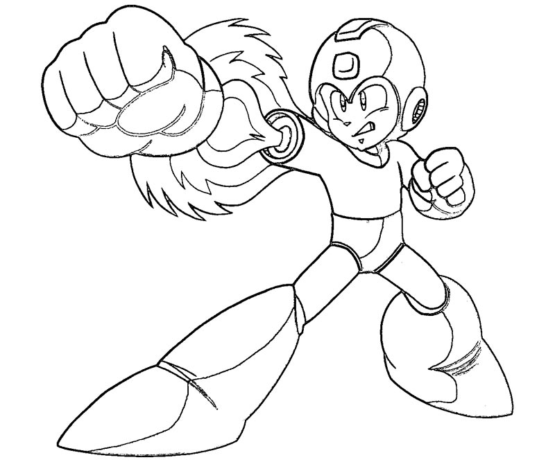 mega man coloring pages free - photo#17