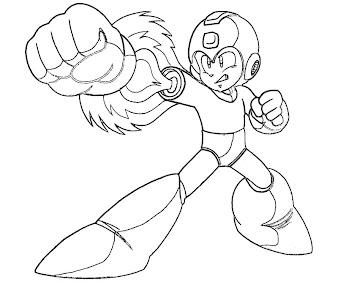 #4 Mega Man Coloring Page