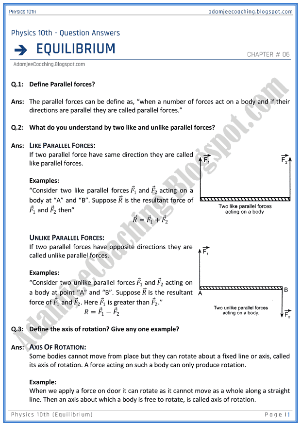 equilibrium-question-answers-physics-10th
