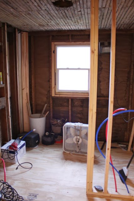 pretty framing a bathroom. As you can see the shower wall is still pretty prominent when walk in  but there s nothing we could do about it unless completely reworked Bathroom Redo Part Three Framing Electrical Danks and Honey