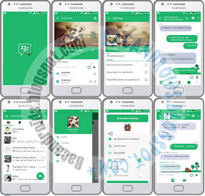 download BBM Mod Thema Line Friend Apk