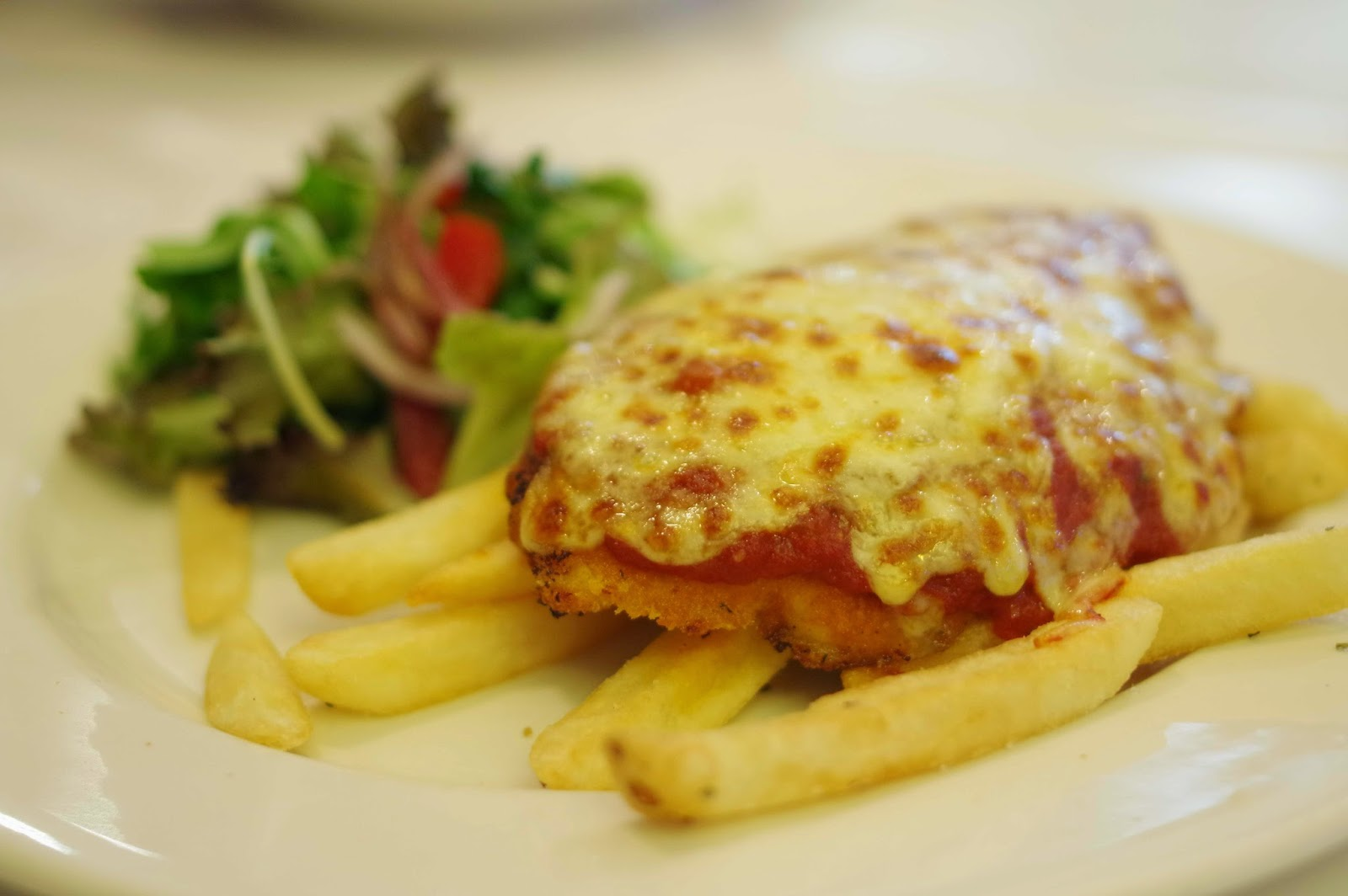 Pollo parmigiana or chicken parmigiana