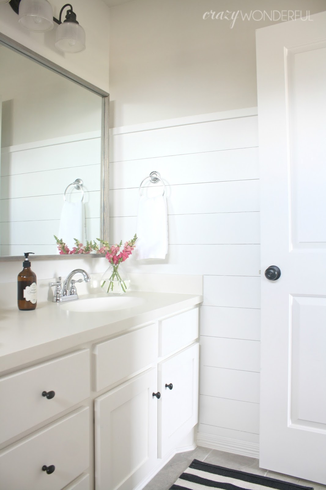 Black mirrored bathroom vanity - Stay Tuned For The Shower Curtain Diy Tutorial Here It Will Open