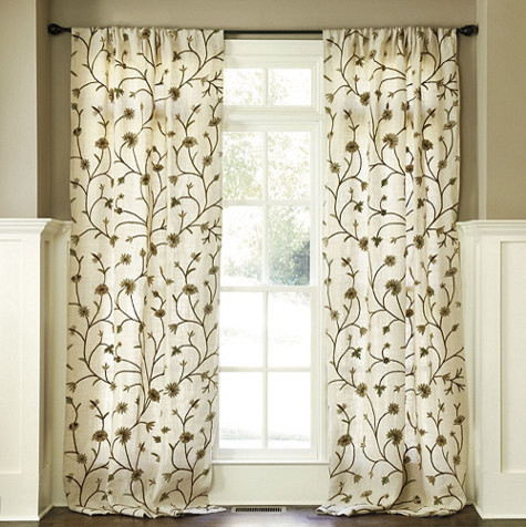 Sew 18th century curtain along under petticoat for 18th century window treatments