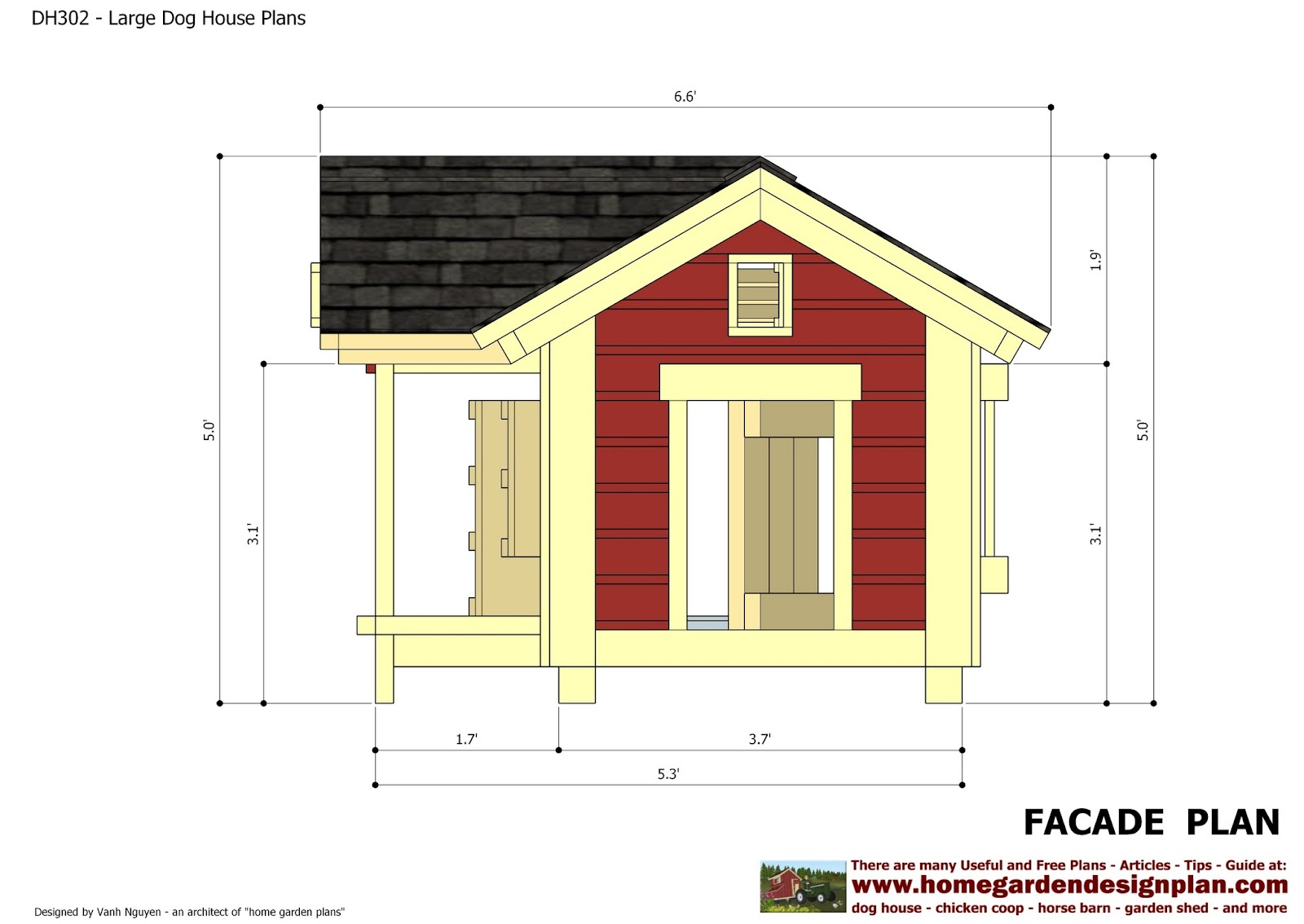Home Garden Plans Dh302 Insulated Dog House Plans