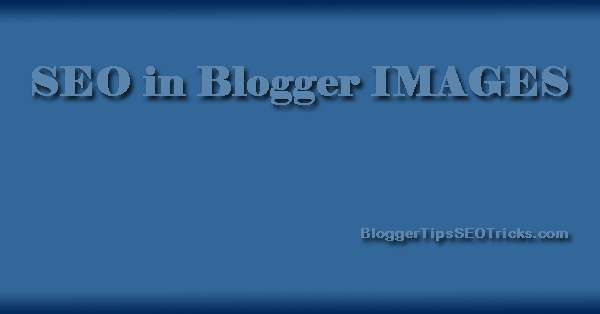 seo for blogger images