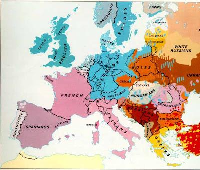 Mappa di Europa Politica Regione