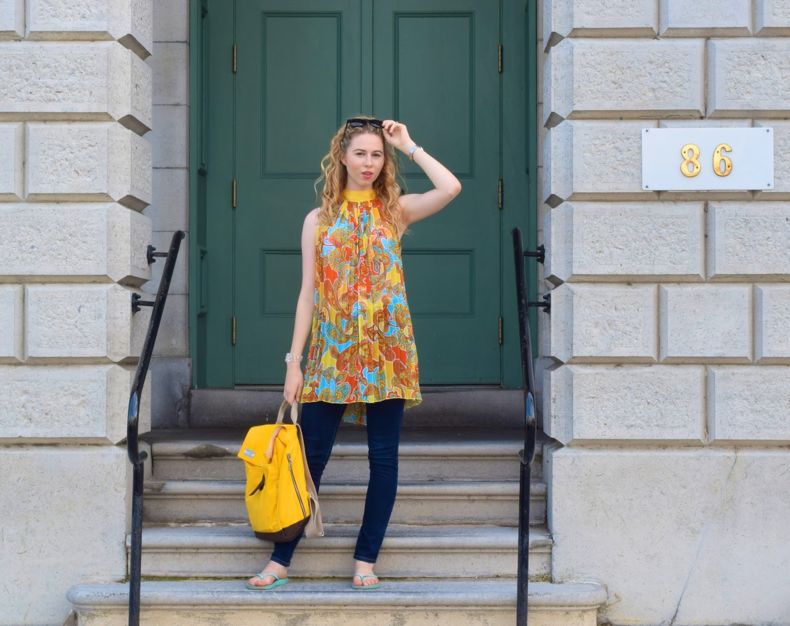 Annie Robinson, FABINCBLOG, Toms, Toms Backpack, Summery Fashion, Back To School Style, Kingston, Fashion Blogger