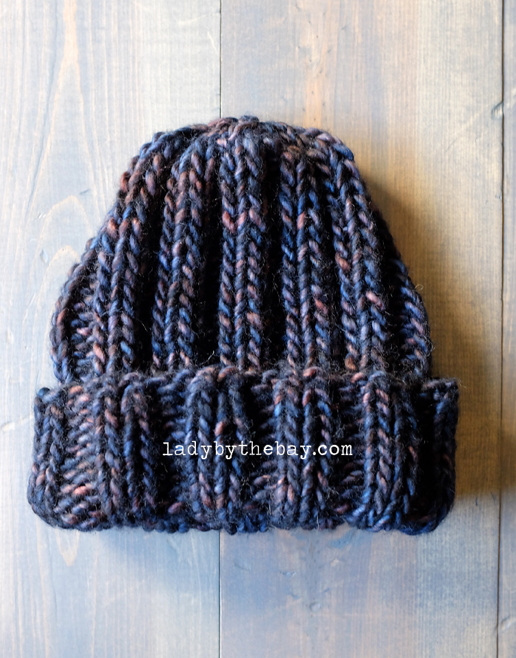 Knitting Pattern Ribbed Beanie : Lady By The Bay: Simple Ribbed Beanie Knitting Pattern