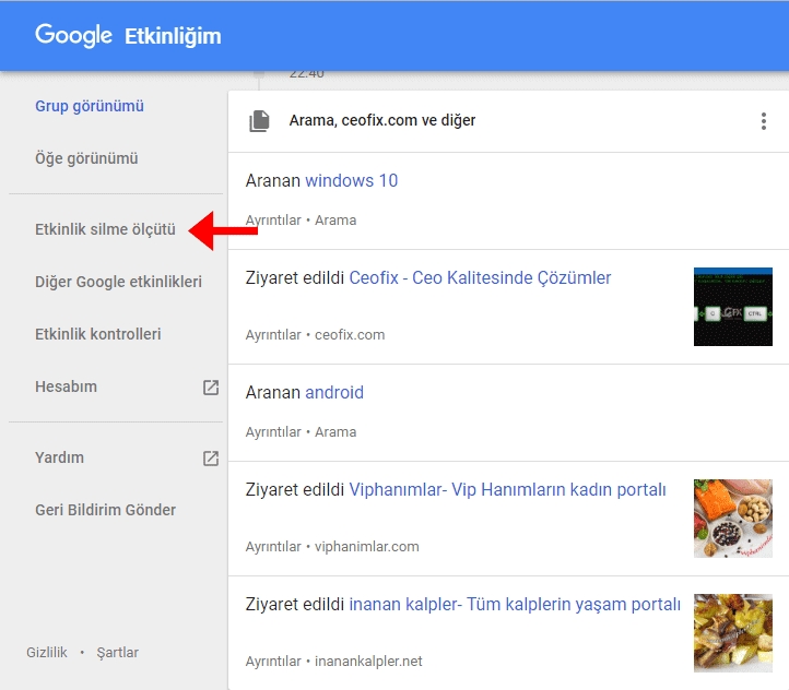 google etkinlik- www.ceofix.com