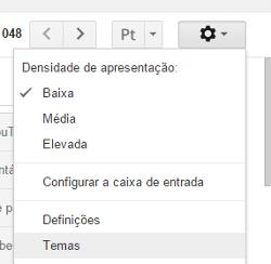 mudar fundo tema do gmail