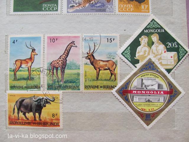 марки Бурунди Монголия