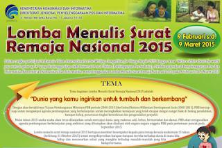 Lomba Menulis Surat Remaja 2015 Berhadiah Total Rp36 Juta