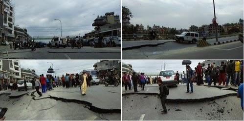 7.9 magnitude earthquake rocks Kathmandu nepal, massive dmages reported - watch video