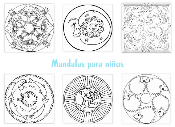 Esencia del ser mandalas para ni os plantillas for Mandalas ninos