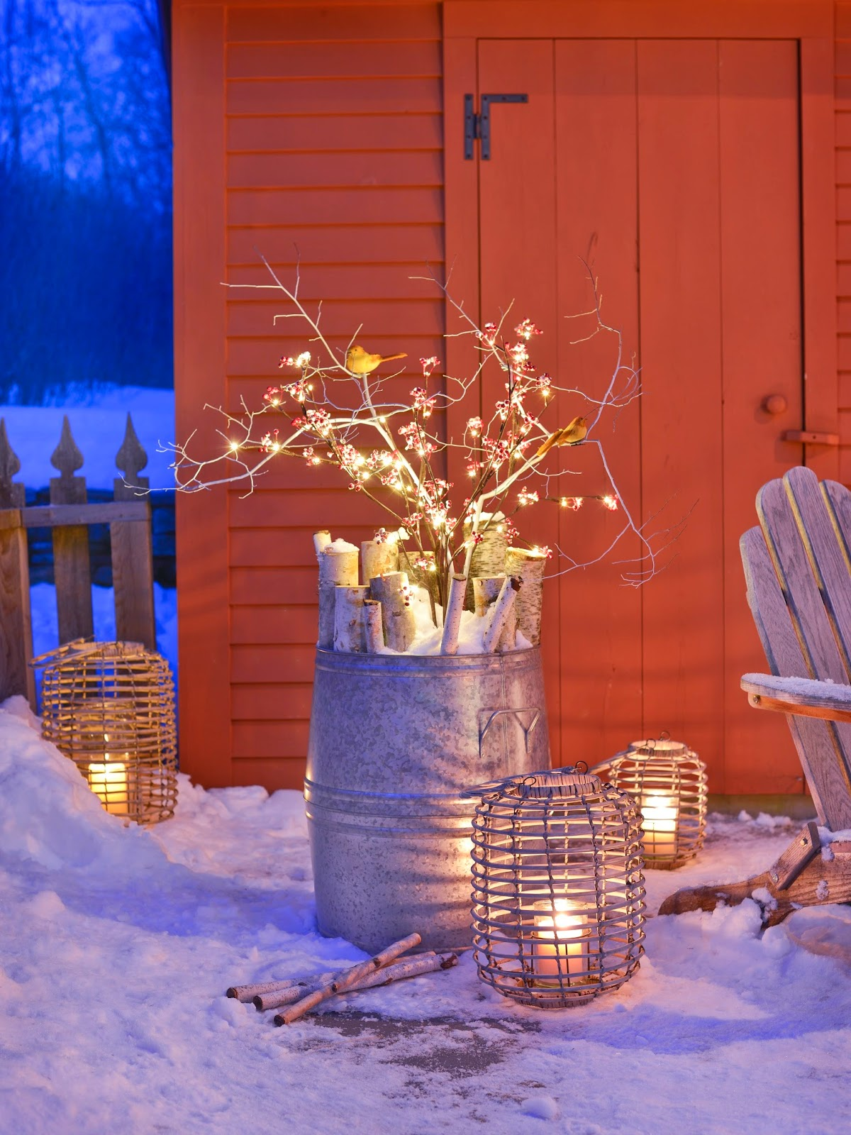 karin lidbeck outdoor spaces winter lights snow
