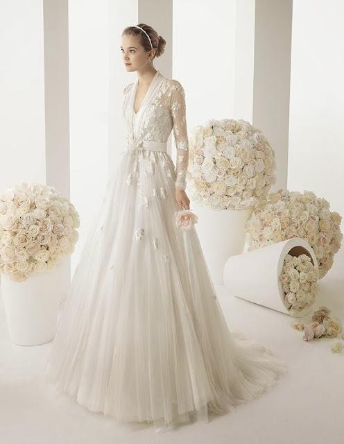 winter wedding gown