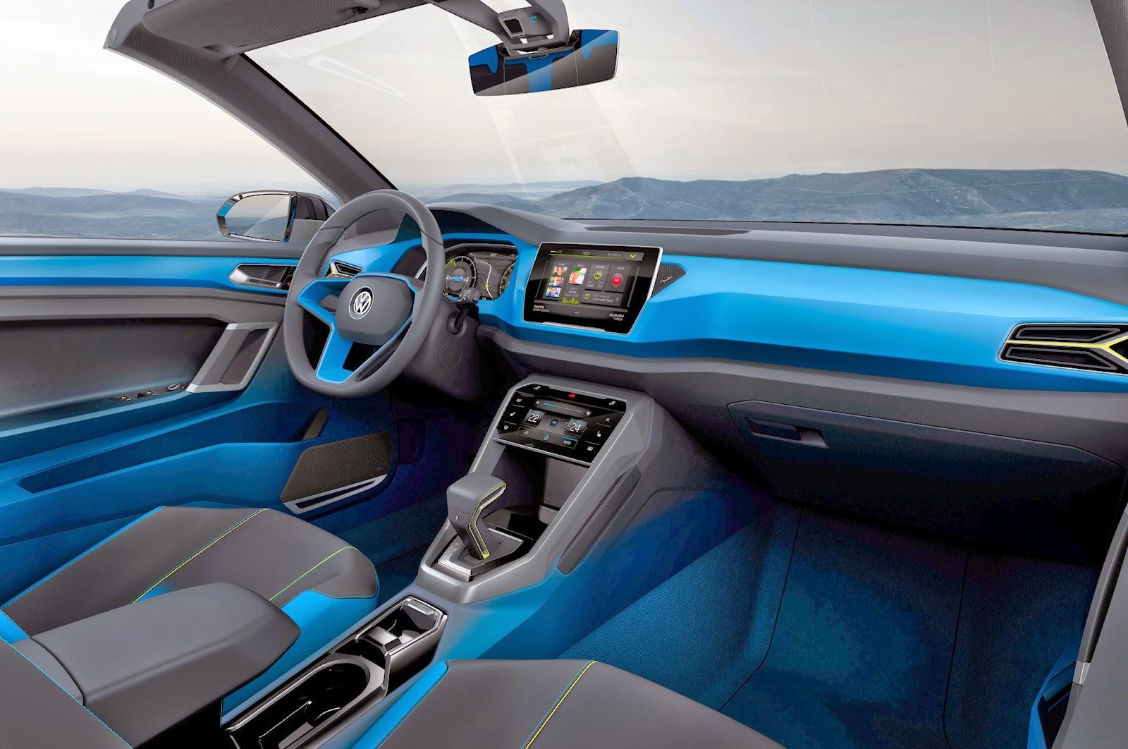 Conceito vw t rock for Interior volkswagen t roc