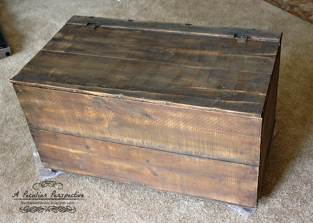 wood crate with casters