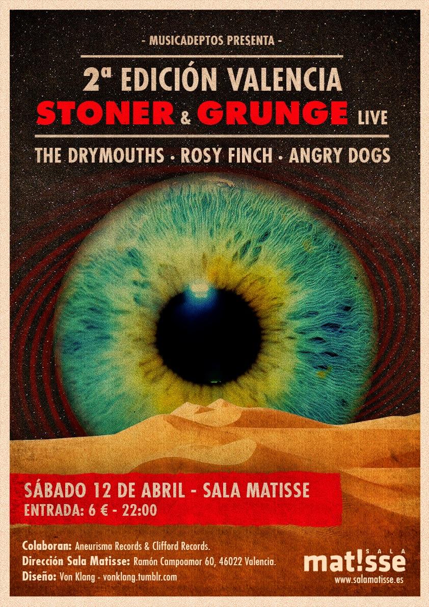 The Dry Mouths, Rosy Finch, y Angry Dogs conforman la segunda edición del Valencia Stoner & Grunge Live