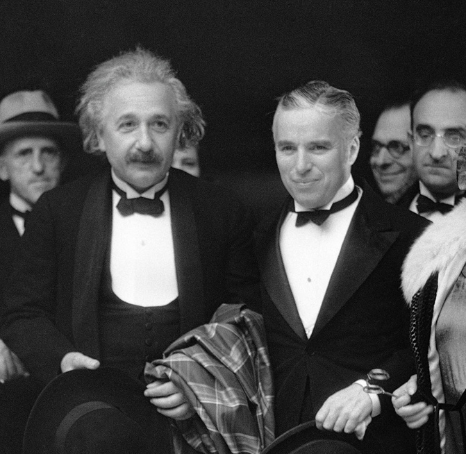 Albert Einstein and Charlie Chaplain 1931