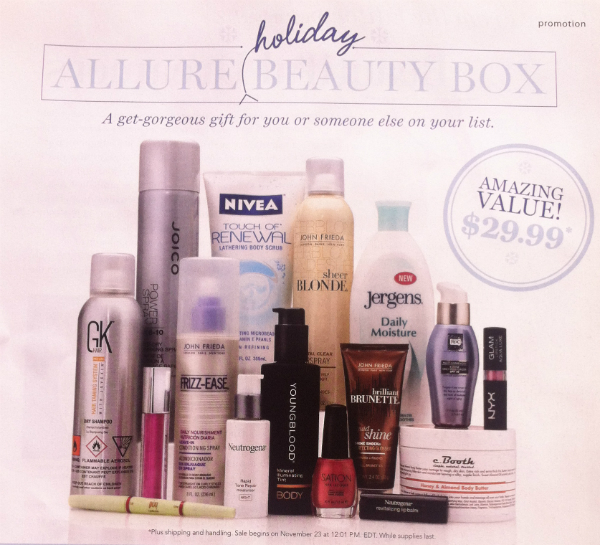 Allure Beauty Box Holiday Edition - Plus Black Friday Subscription Box Deals!