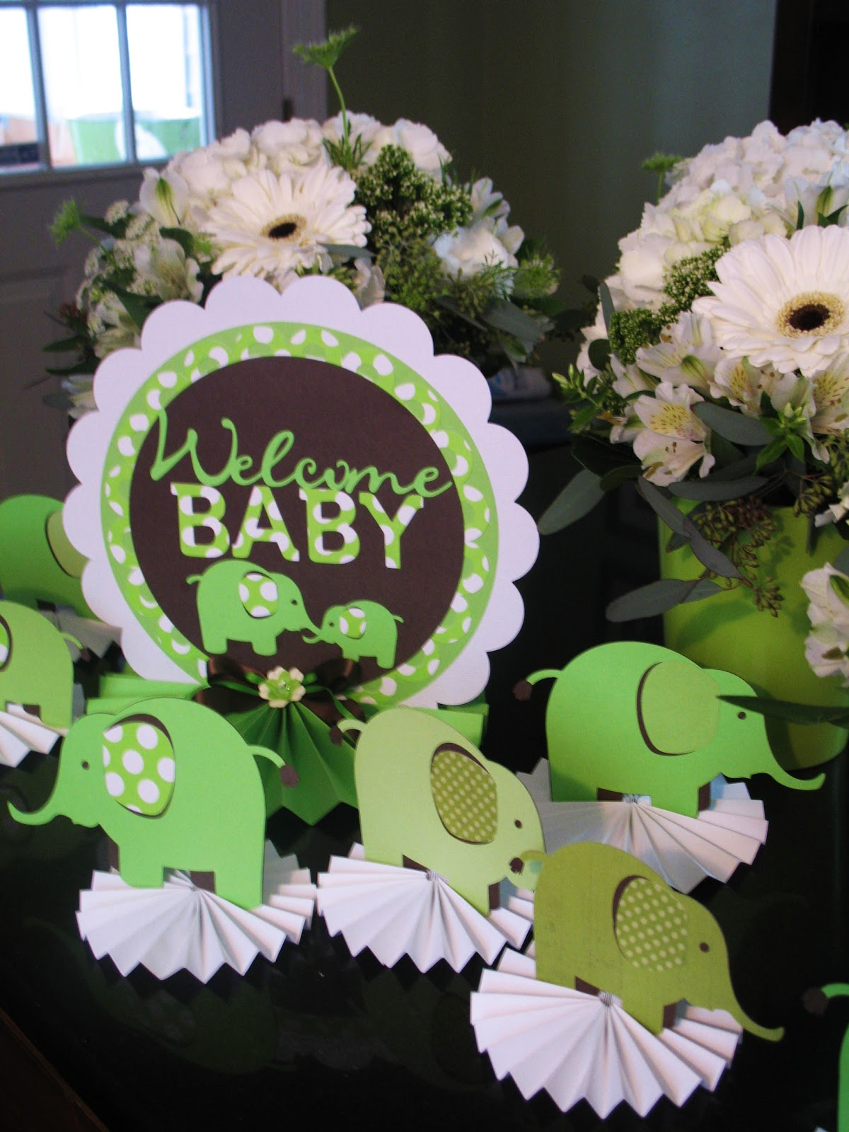 zoe bean design elephant baby shower