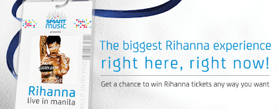 Smart Communications: Get a Chance to Win a Free Rihanna Tickets Promo