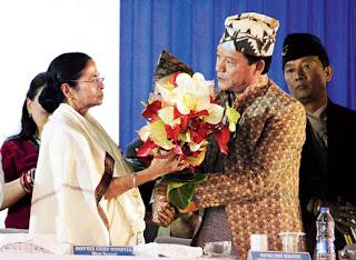 CM Mamata Banerjee GTA chief Bimal Gurung in Darjeeling