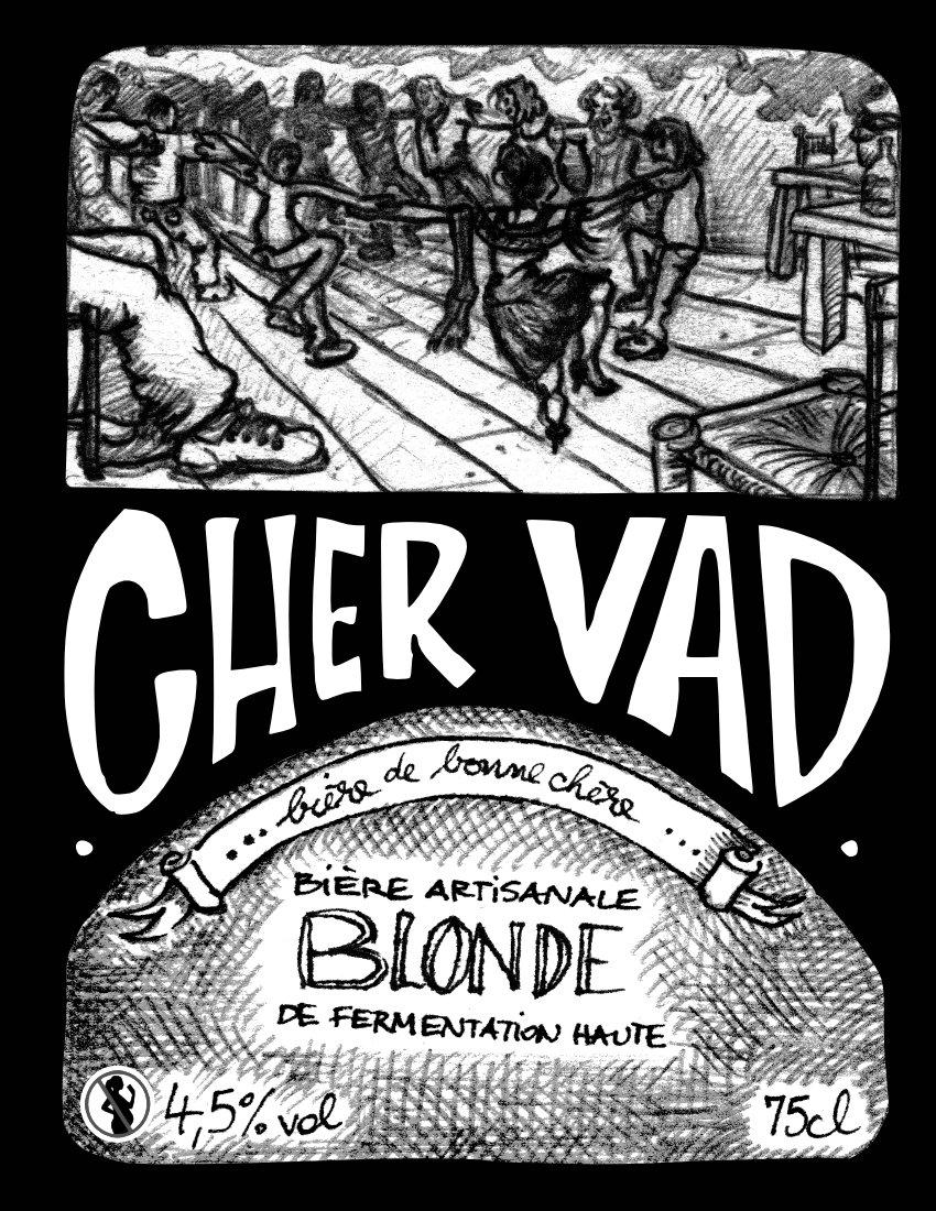 Bière La Chervad  blonde de repas 4.5% 75 cL