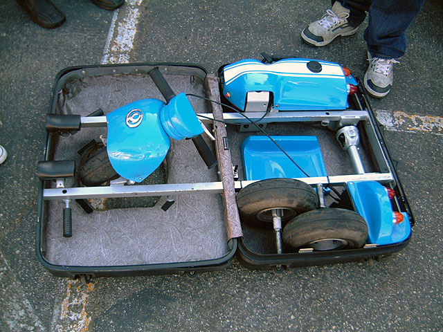 The Petrol Stop Mazda Suitcase Car