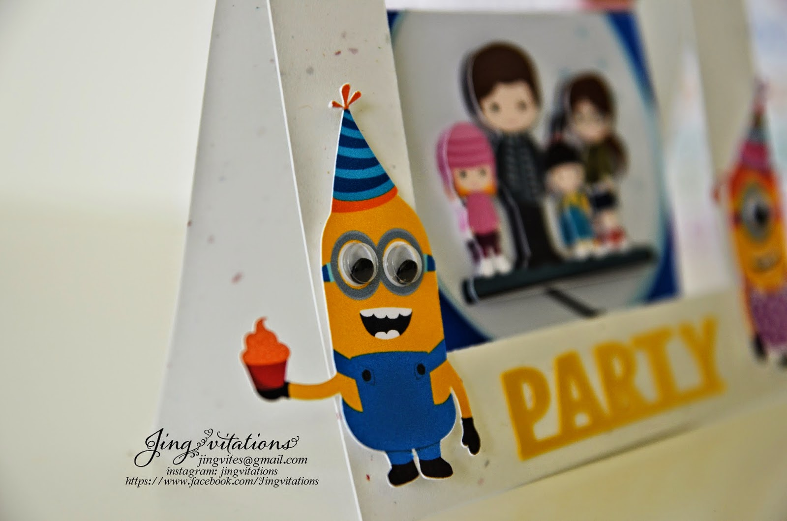 minion handmade invitations