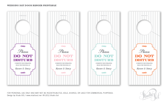 wedding door hanger template. Each Week I Will Be Posting Up A Printable PDF For Brides, Mothers, Friends Etc. Some Are Going To Editable PDF\u0027s, Others Generic Items But All Of Them Wedding Door Hanger Template