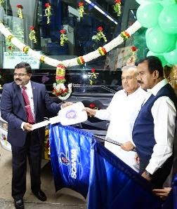 Scania delivers 2 Metrolink buses to KSRTC for trial run