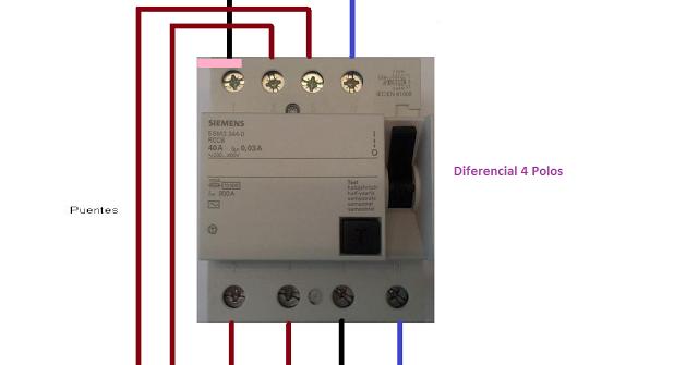 Extractor De Baño Sica:conexion diferencial 4polos ~ Esquemas eléctricos