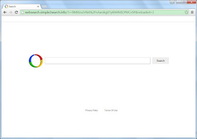 the screenshot of websearch.simple2search.info homepage