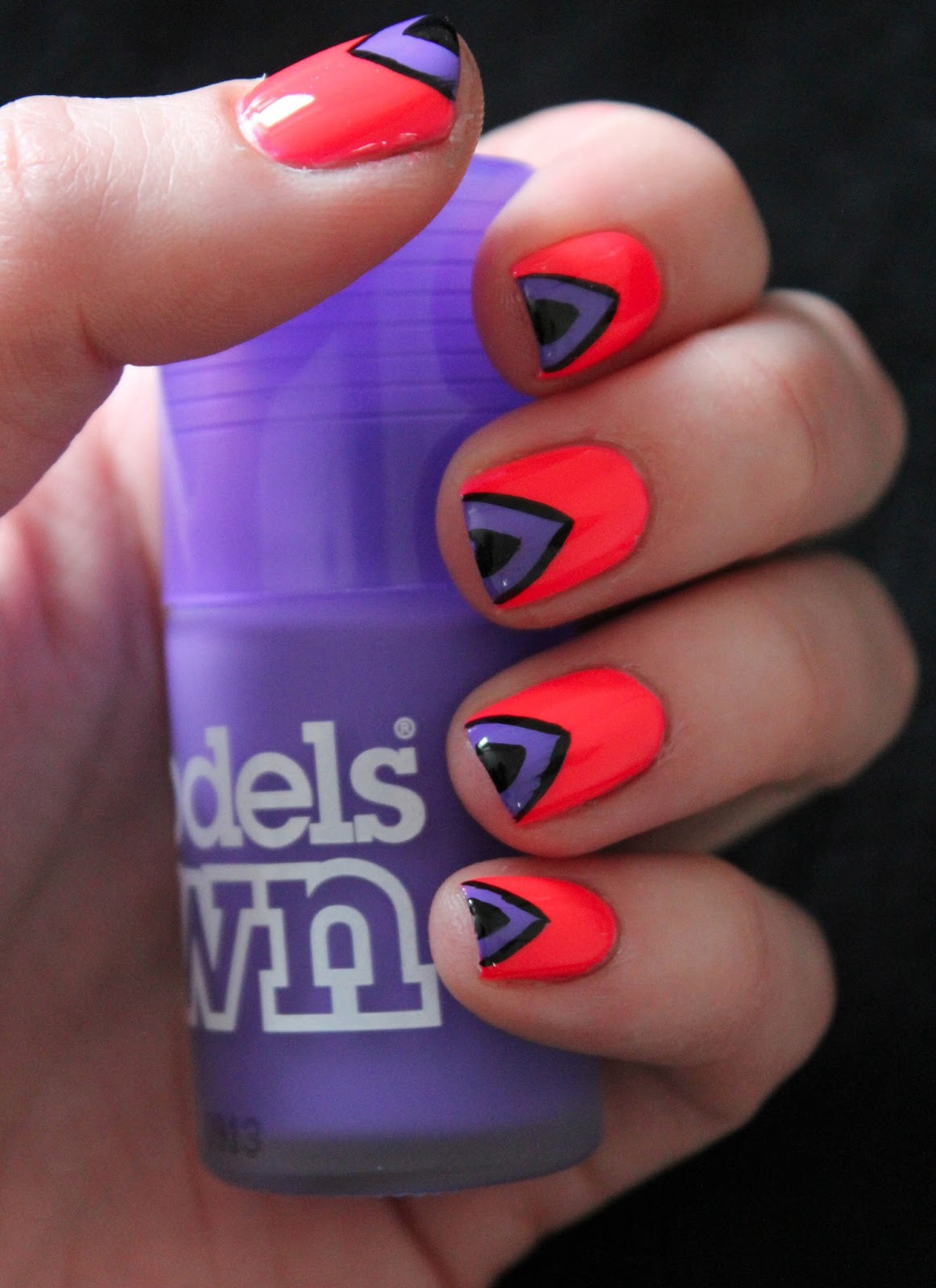 fundamentally flawless mani monday models own ice neons nail art. Black Bedroom Furniture Sets. Home Design Ideas