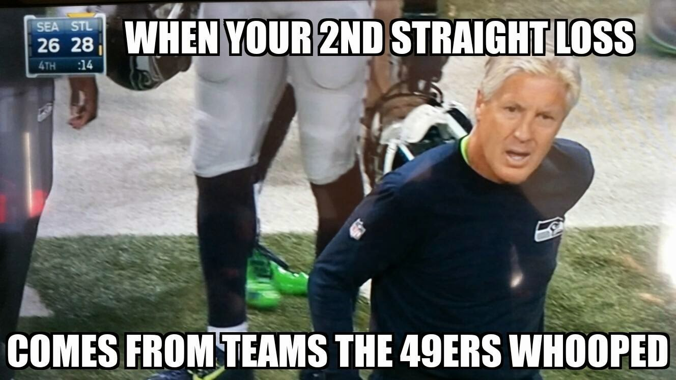 when your 2nd straight loss comes from teams the 49ers whooped