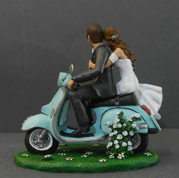 Matrimonio Tema Vespa : Orme magiche cake topper personalizzati