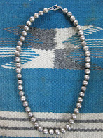 around 50's                「NAVAJO」                 SILVER BALL BEADS                 NECKLACE