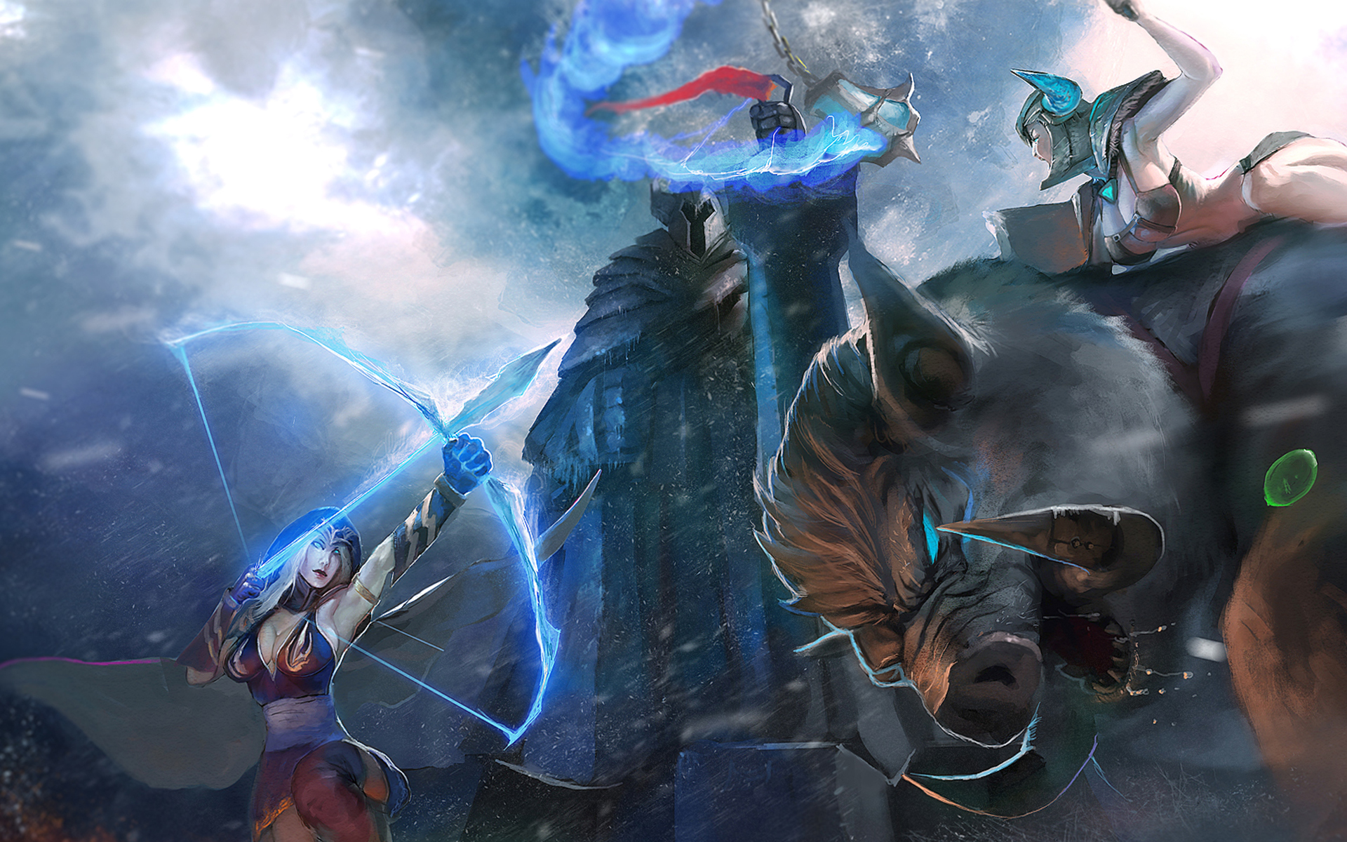 Ashe vs Sejuani 2e Wallpaper HD
