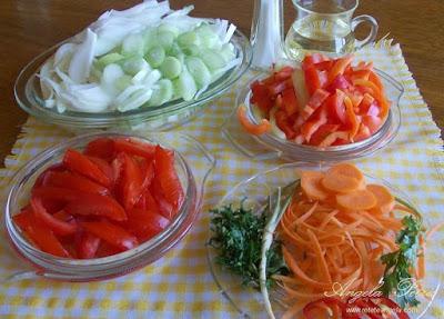 Preparare ghiveci de legume-etrapa 2