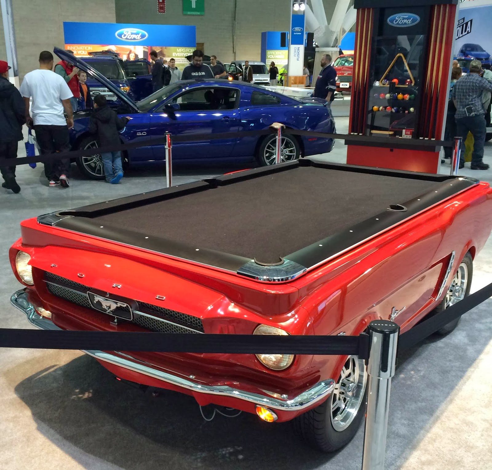 Custom Car Pool Tables A Mustang Pool Table