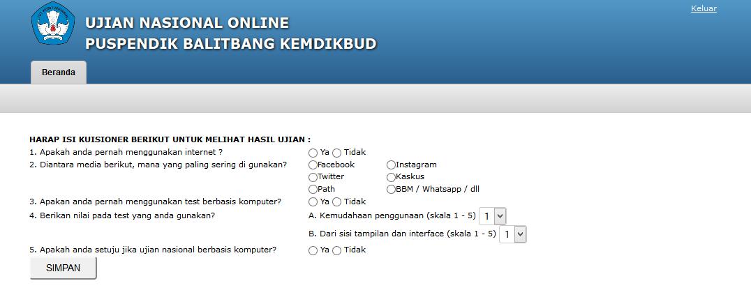 Smp Negeri 3 Taliwang Uji Coba Sistem Ujian Nasional Berbasis Komputer Online