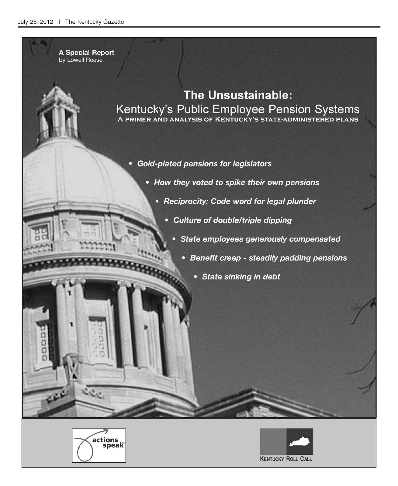 Kentucky's public employee pensions: A primer on the state's six systems and abuses