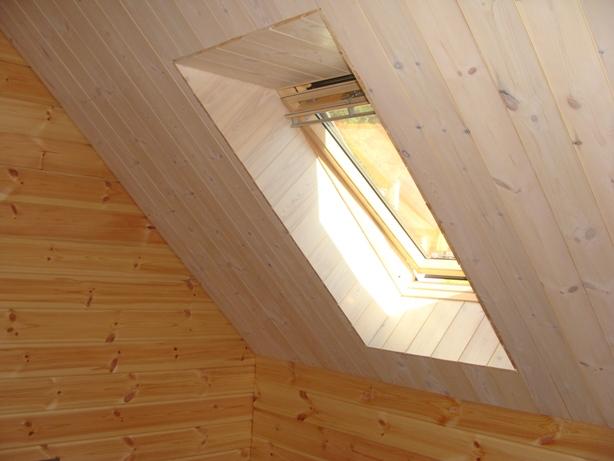 Mon chalet madrier en autoconstruction montage int rieur for Faux plafond translucide