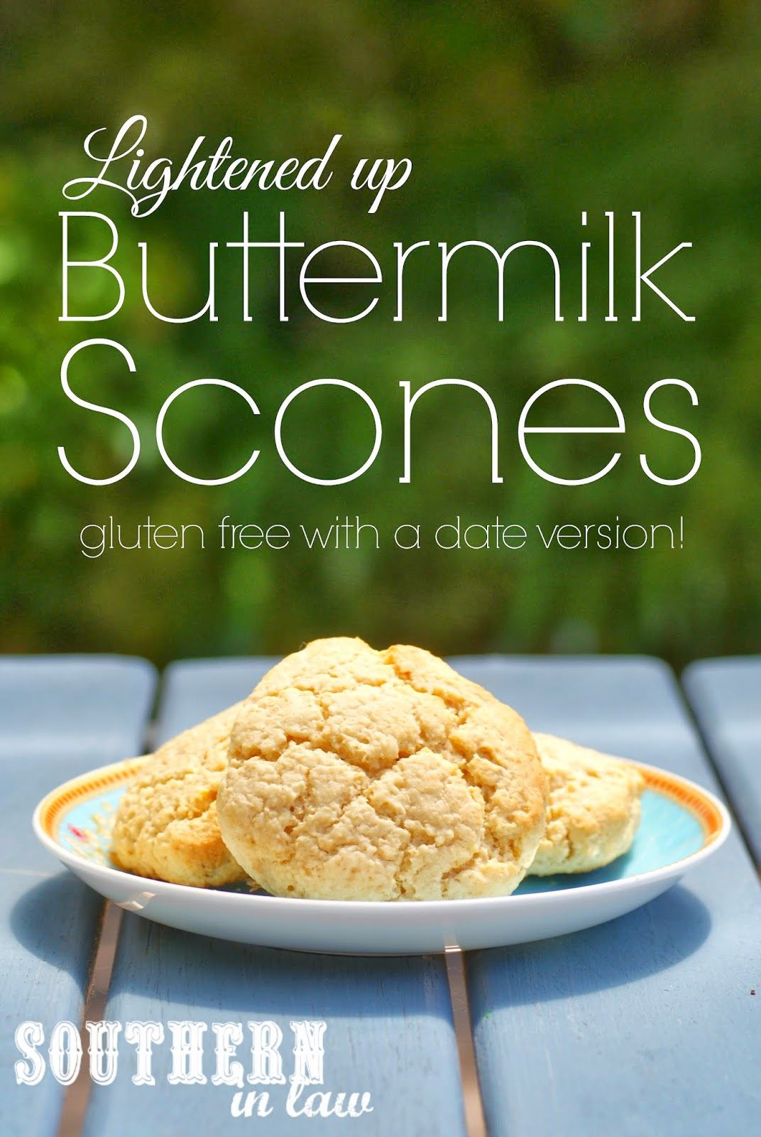 Lightened up Buttermilk Scones - Gluten Free Scone Recipe